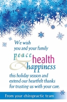 we wish you and your family peace health happiness this holiday season and extend our heartfelt thanks for trusting us with your care