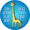 St201a giraffe sticker