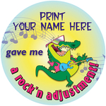 Rock'n Adjustment - Personalized Stickers