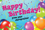 Happy Birthday! From your chiropractor (balloons)