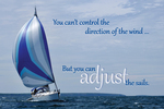 Adjust the sails (sailboat)