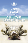 Keep calm and call your chiropractor. (cat)