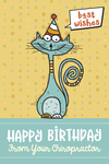 Happy Birthday from your Chiropractor - Best Wishes (cat)
