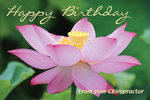 Happy Birthday From your Chiropractor (flower) *NEW*