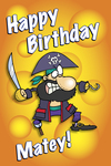 Happy Birthday Matey! (pirate)