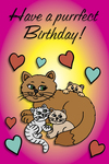 Have a purrfect Birthday! (cats)