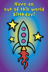 Have an out of this world birthday! (rocket)