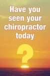 Have You Seen Your Chiropractor Today?