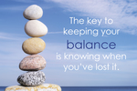 The Key To Keeping Your Balance