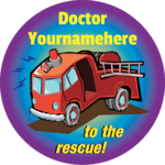 To the rescue! - Personalized Stickers