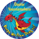 Keeps Me From Dragon! - Personalized Stickers