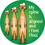 My spine is aligned and I feel fine!