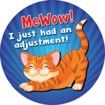 MeWow! I just had an adjustment!