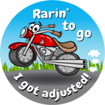 Rarin' to go - I got adjusted!