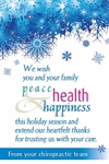 We wish you and your family peace, health, and happiness...